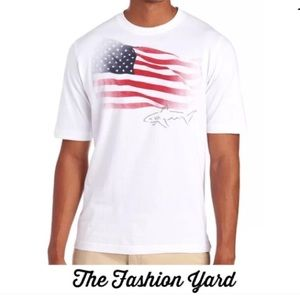 GREG NORMAN Americana Flag Tee-Large